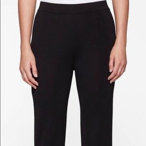 Misook straight leg knit black pants, L